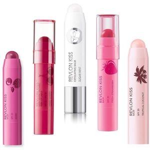 5x Revlon Kiss Exfoliating+Moisturizing Lip Balm